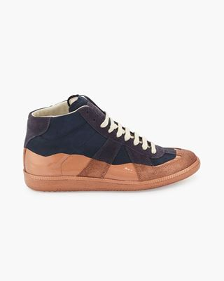 Picture of Burnished Leather Sneakers
