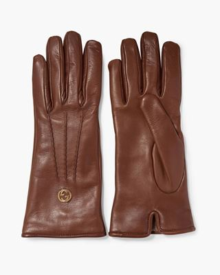 Picture of Embellished Leather Gloves